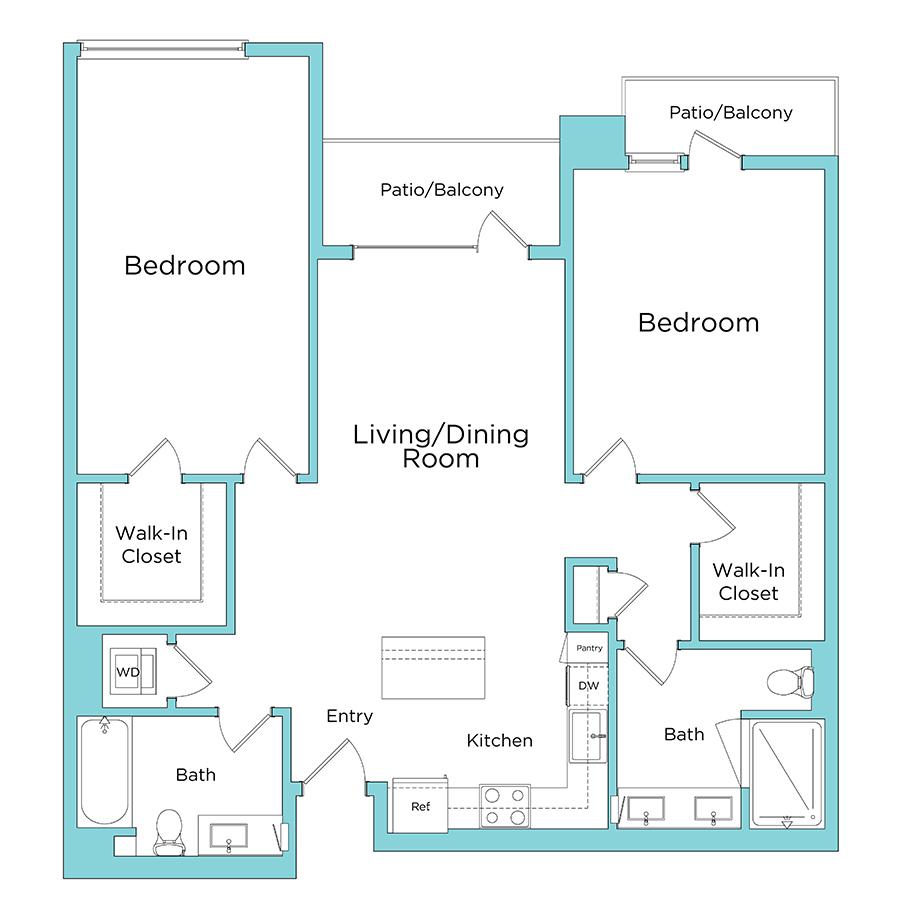 Oceanaire Apartments floorplan